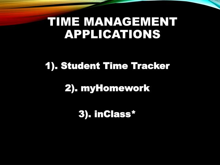 Time Management Applications