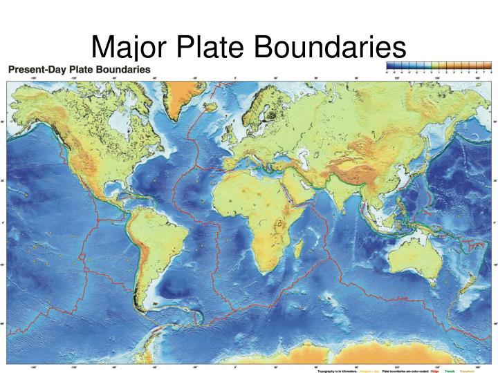 Major Plate Boundaries