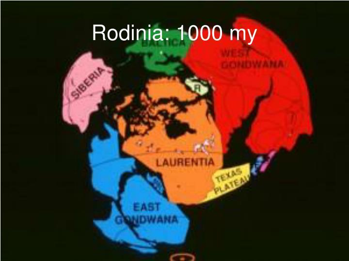 Rodinia: 1000 my
