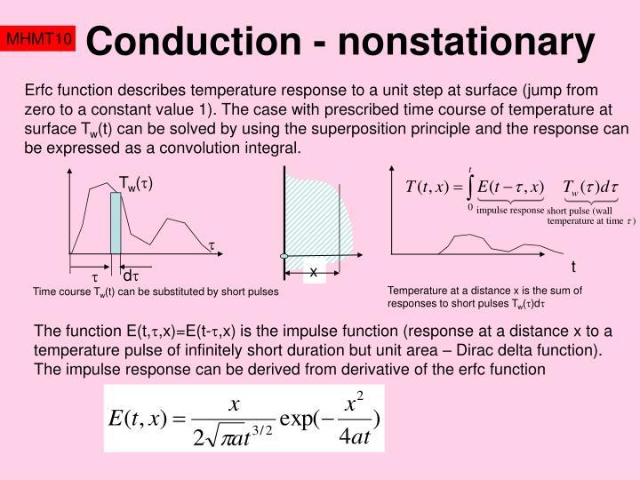 Conduction - nonstationary