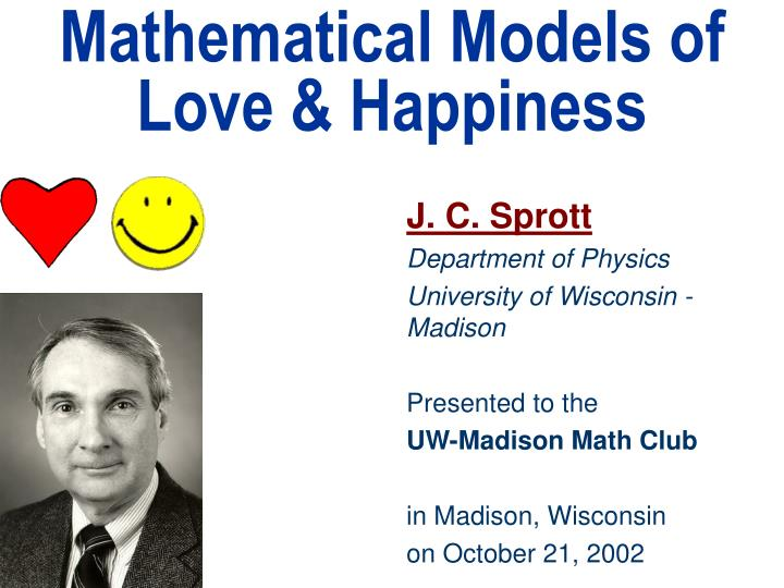 Mathematical models of love happiness