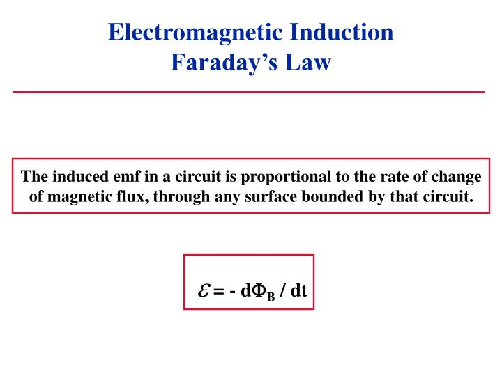 Electromagnetic induction faraday s law