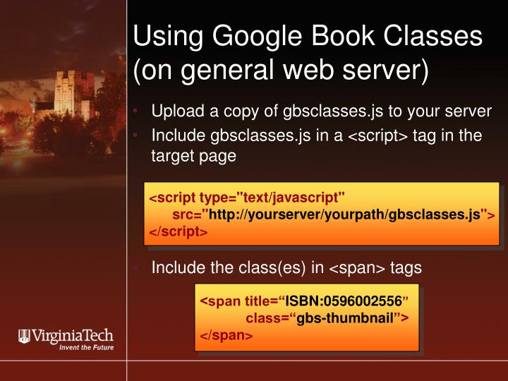 Using Google Book Classes
