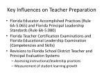 key influences on teacher preparation