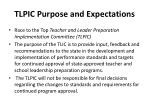 tlpic purpose and expectations