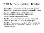 tlpic recommendations timeline