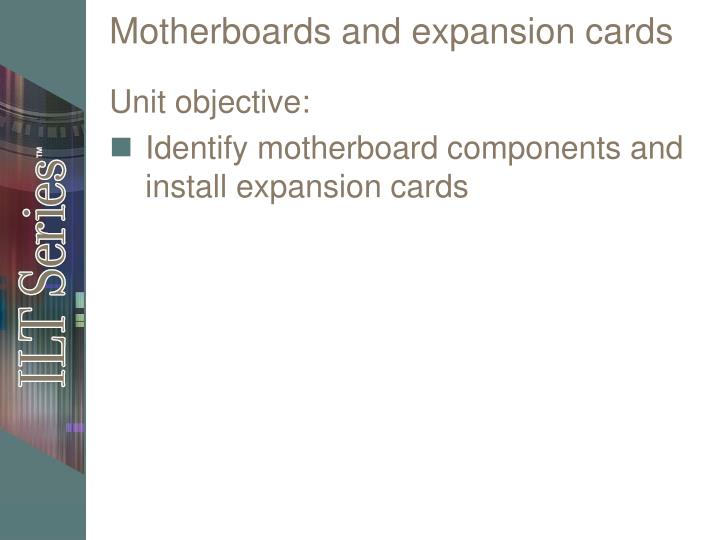 motherboards and expansion cards n.