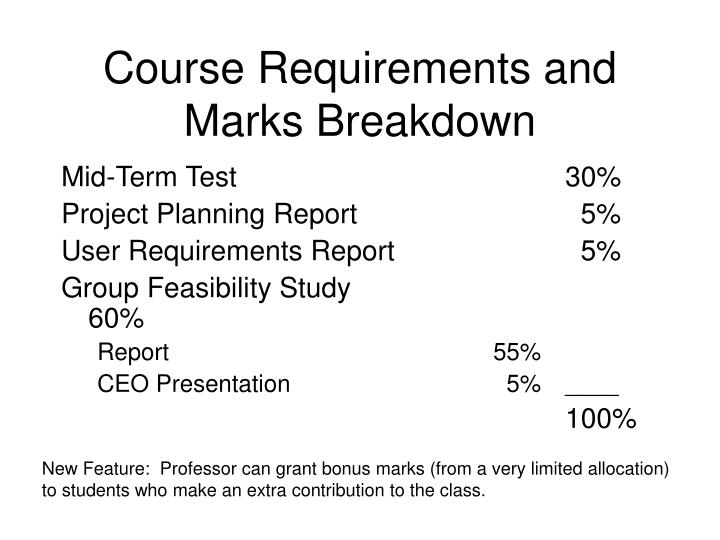 Course Requirements and