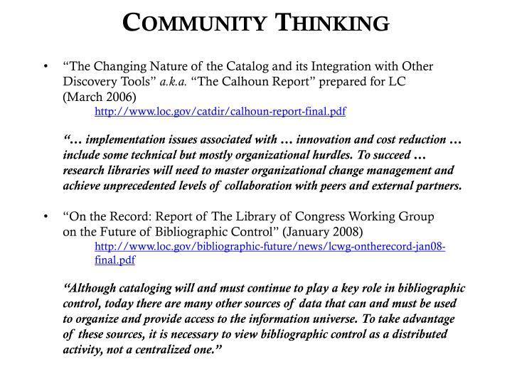 Community thinking1