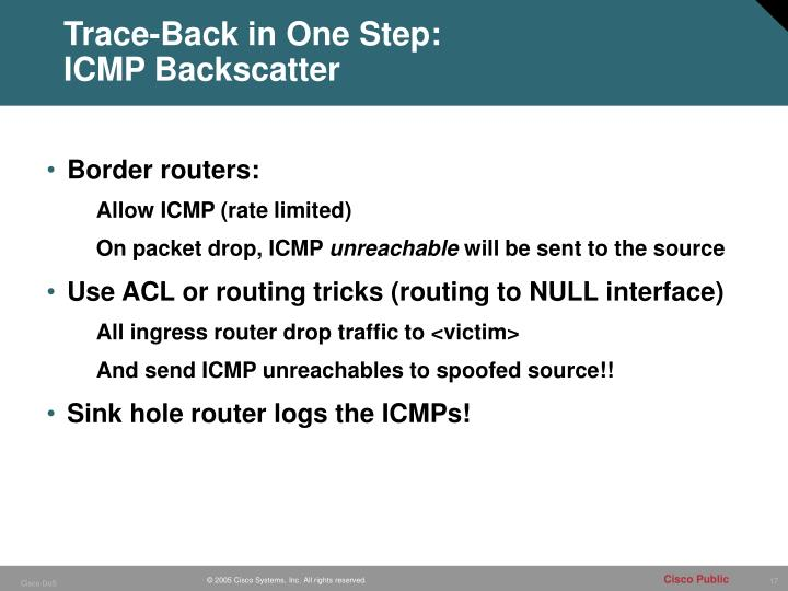 Trace-Back in One Step:
