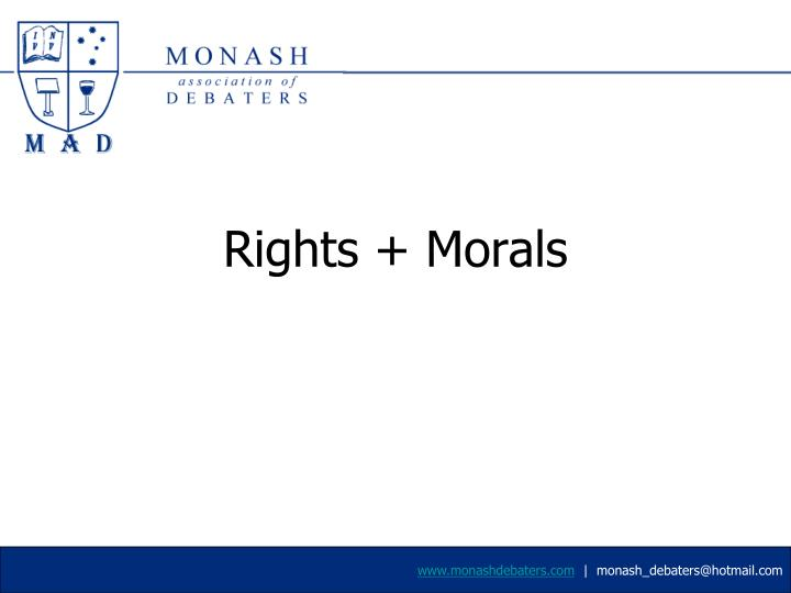 rights morals n.