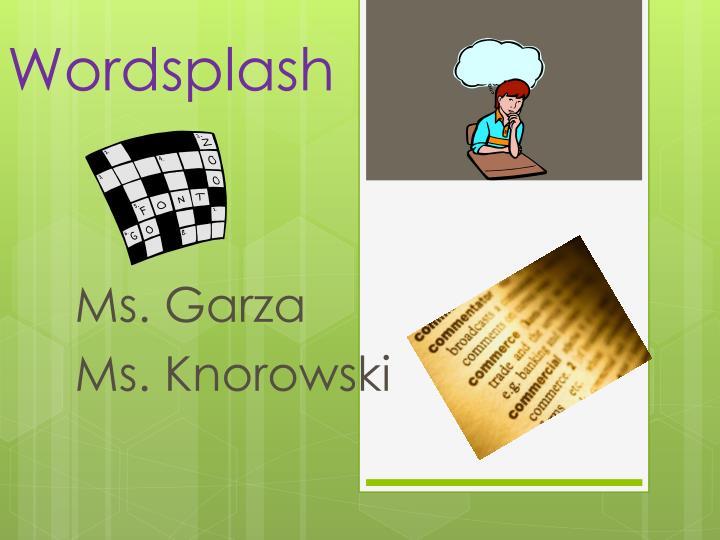 wordsplash n.