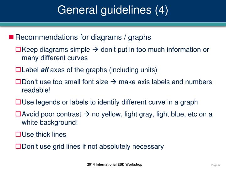 General guidelines (4)