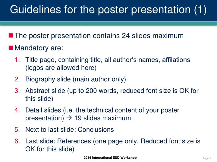 Guidelines for the poster presentation (1)