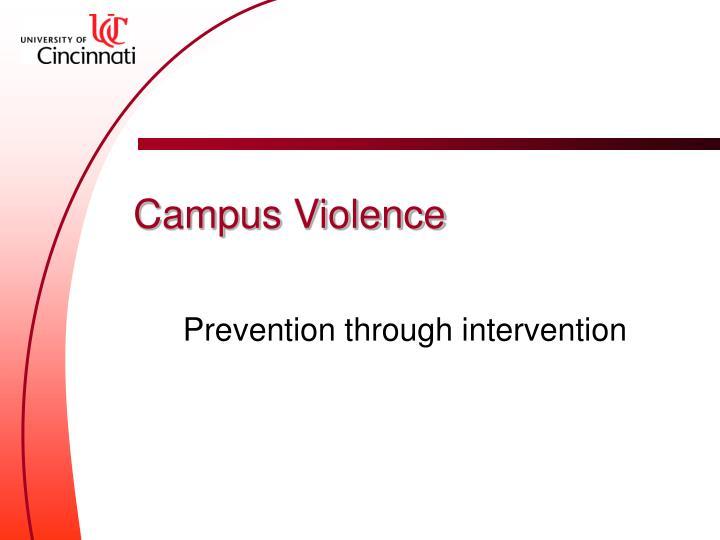 campus violence n.