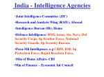 india intelligence agencies