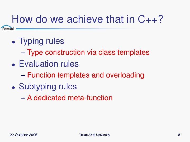 How do we achieve that in C++?
