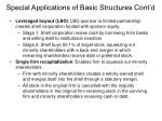 special applications of basic structures cont d
