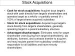 stock acquisitions