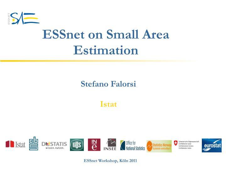 essnet on small area estimation n.