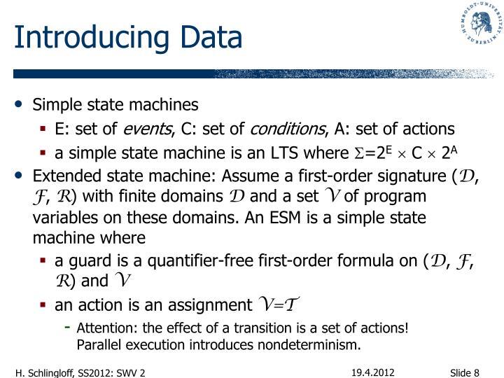 Introducing Data