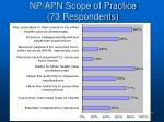 np apn scope of practice 73 respondents