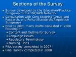 sections of the survey