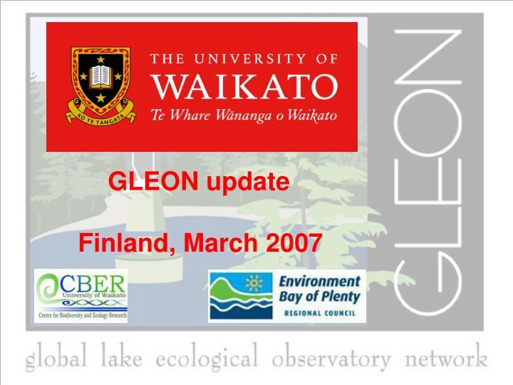 gleon update finland march 2007 n.