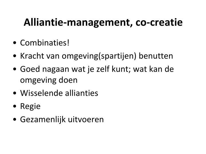 Alliantie-management, co-creatie