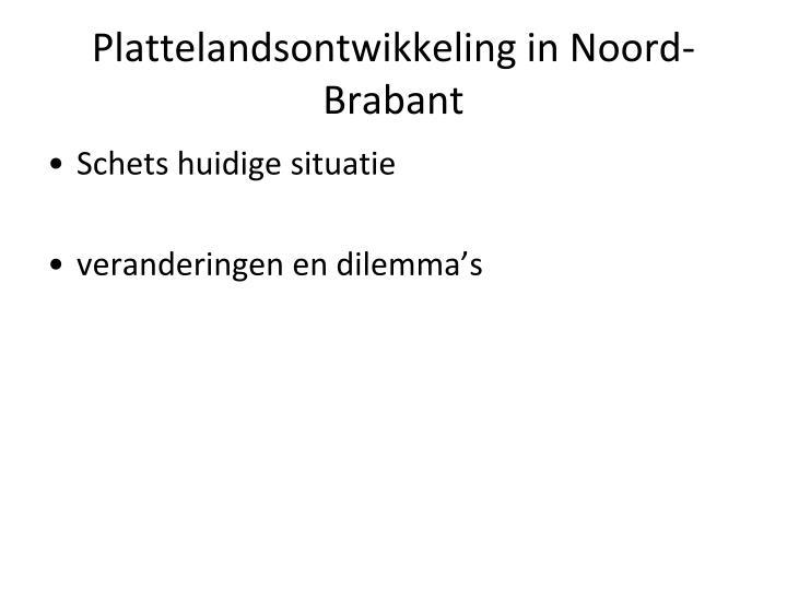 Plattelandsontwikkeling in Noord-Brabant