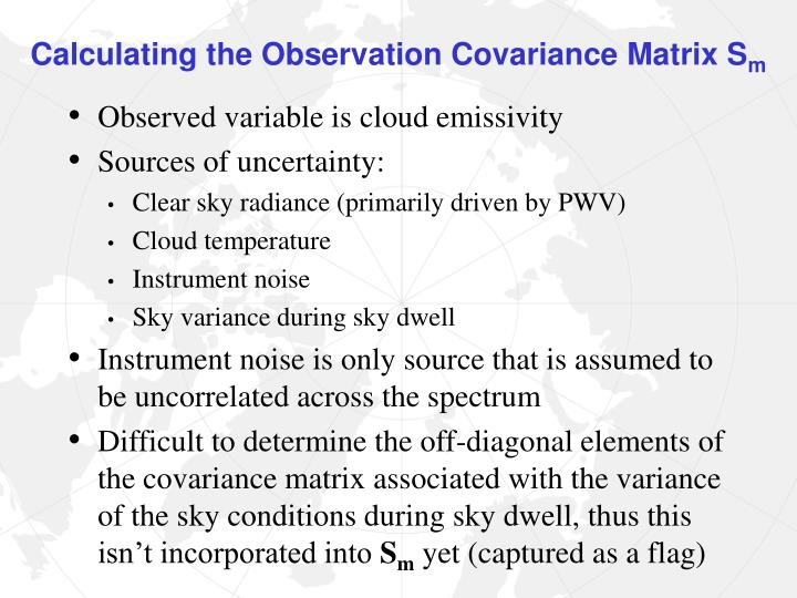Calculating the Observation Covariance Matrix S