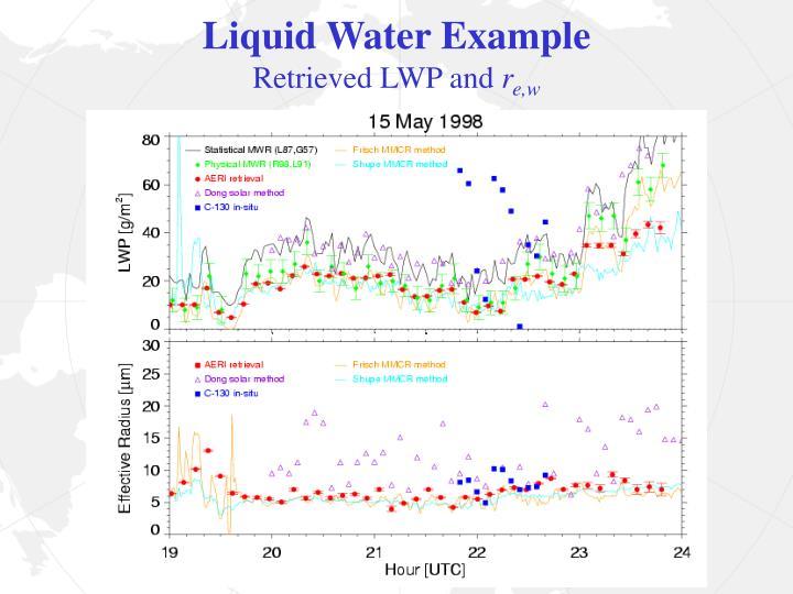 Liquid Water Example