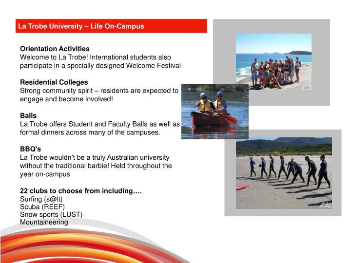 La Trobe University – Life On-Campus