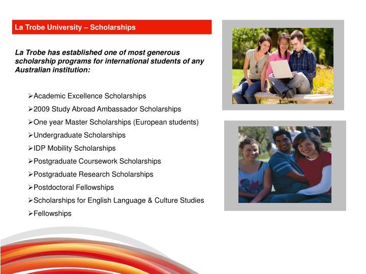 La Trobe University – Scholarships