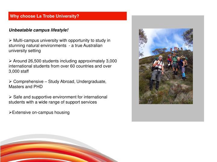 Why choose La Trobe University?