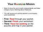 your k w a n z a a mission