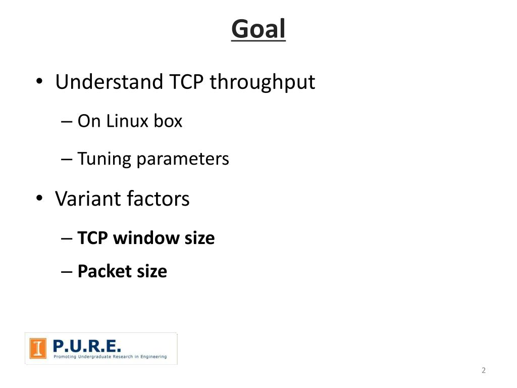 PPT - TCP Throughput Measurement and Tuning on Linux Box