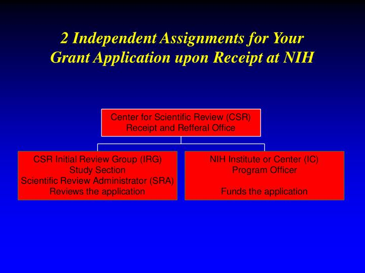 2 Independent Assignments for Your