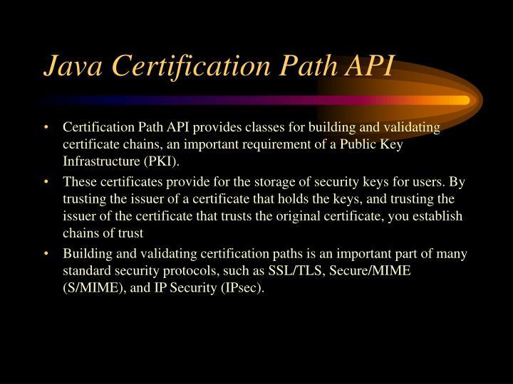 Java Certification Path API
