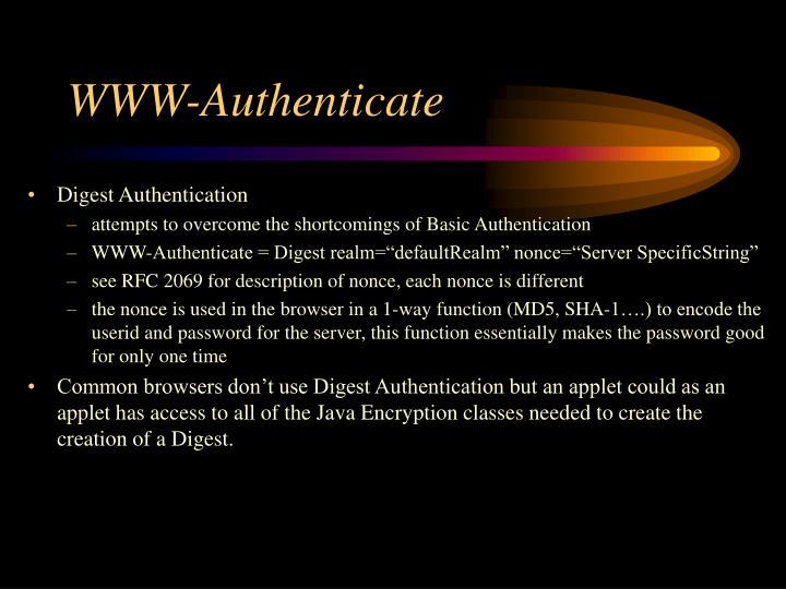 WWW-Authenticate