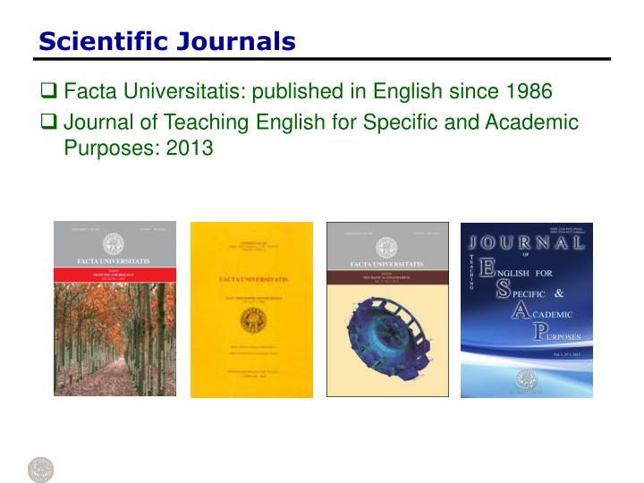 Scientific Journals