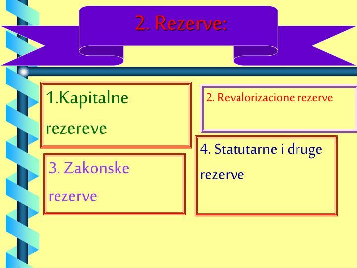 2. Rezerve: