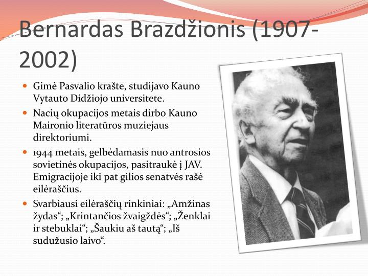Bernardas Brazdžionis (