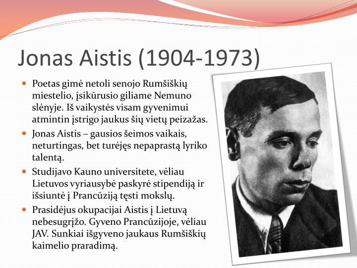 Jonas Aistis (