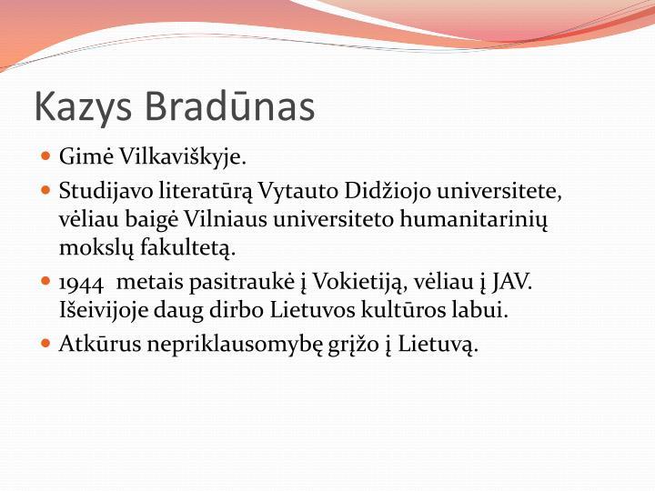 Kazys Bradūnas