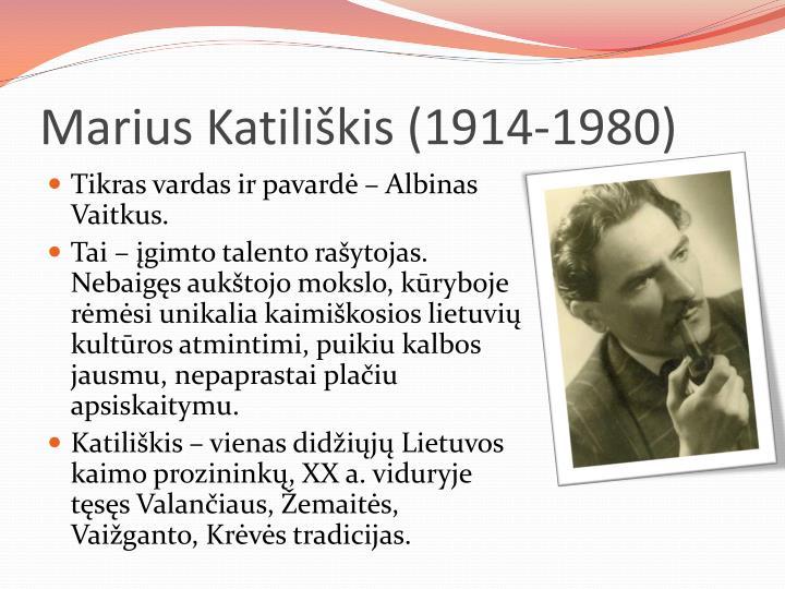 Marius Katiliškis (