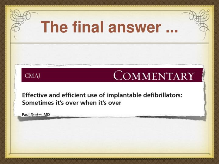 The final answer ...