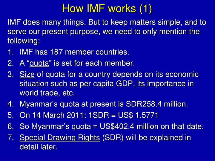 How IMF works (1)