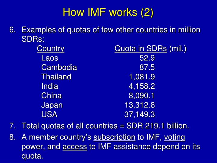 How IMF works (2)