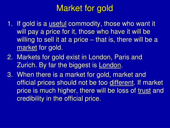 Market for gold